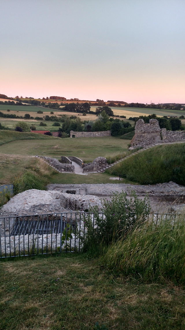 Castle Acre at sunset